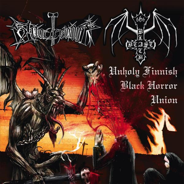 BLACK BEAST / BLOODHAMMER : Unholy Finnish Black Horror Union